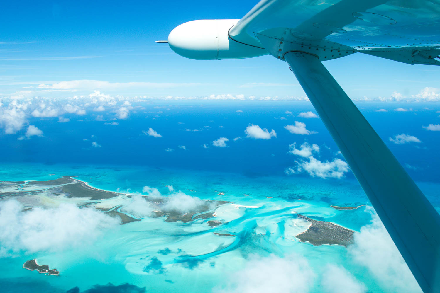 Take a day cruise to Bahamas for an alternative perspective of this beautiful region. A Miami to Bahamas plane leaves every day. Aerial view on Day trips to Bahamas.