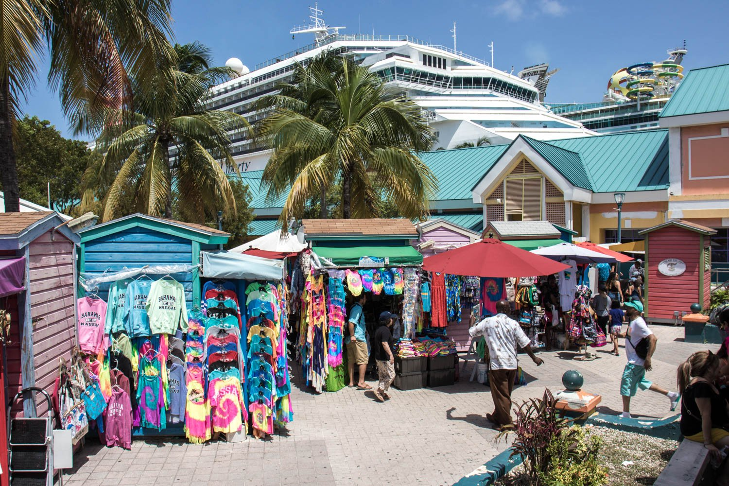 Shop at a local market while in Nassau. There are other things to do in Nassau Bahamas cruise port than just beaches and snorkeling.