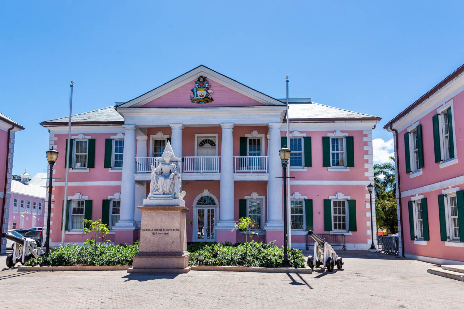 Parliament Square in Nassau is not far from all the main stops. It is one of the best things to do in Nassau Bahamas cruise port when looking for what to do in Nassau port
