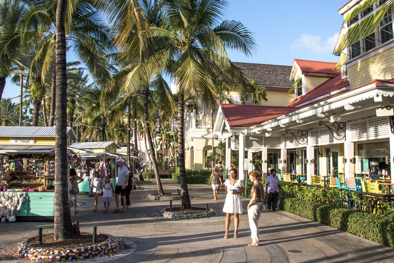Take a walk under palm trees in the capital of the Bahamas. There are many cheap things to do in Nassau Bahamas cruise port like shopping for local artisan work or dining on Conch.