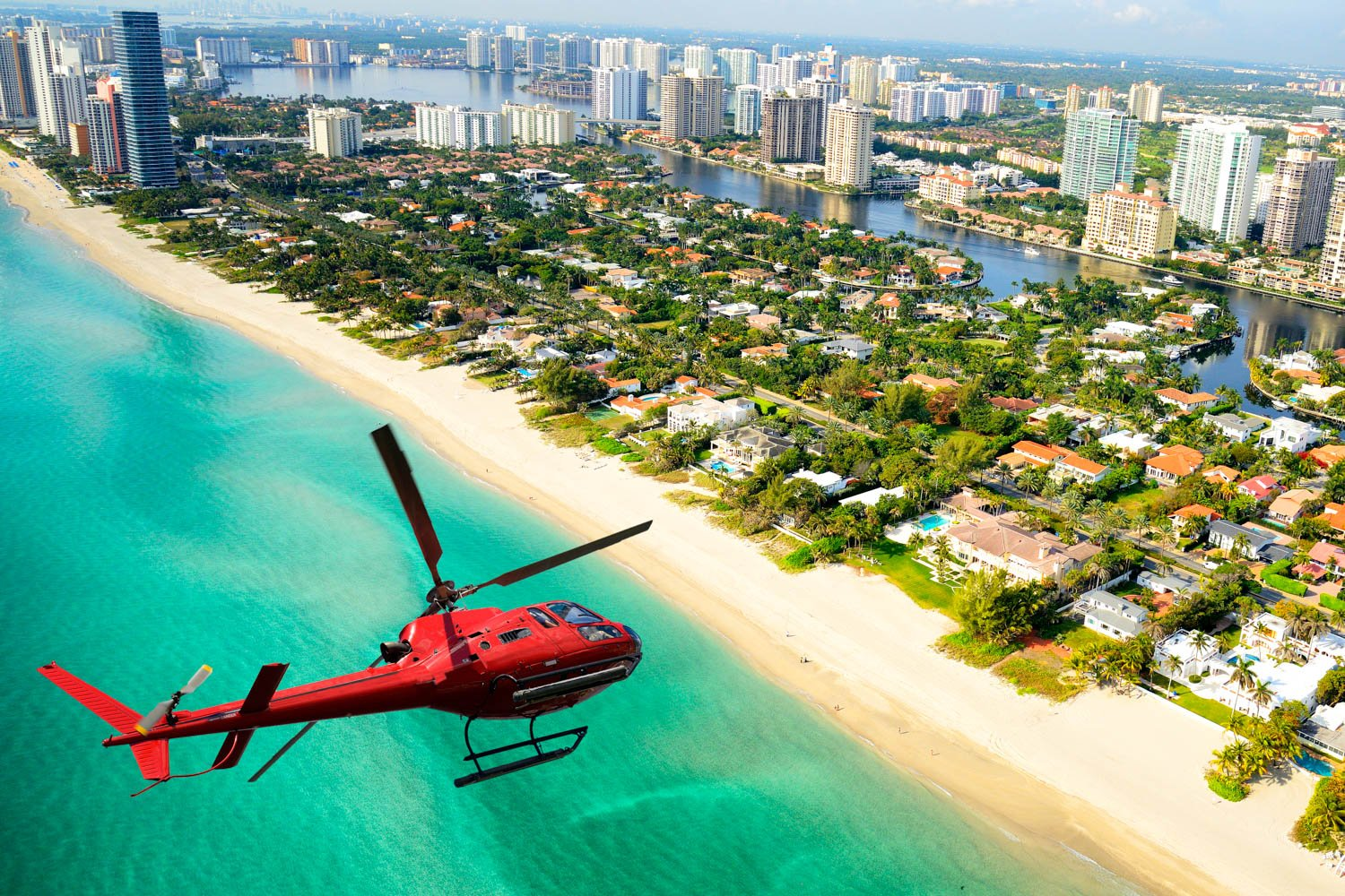 This helicopter over the skyline is one of the favorite Miami excursions. You can see all the things to do in Miami while high in the sky.